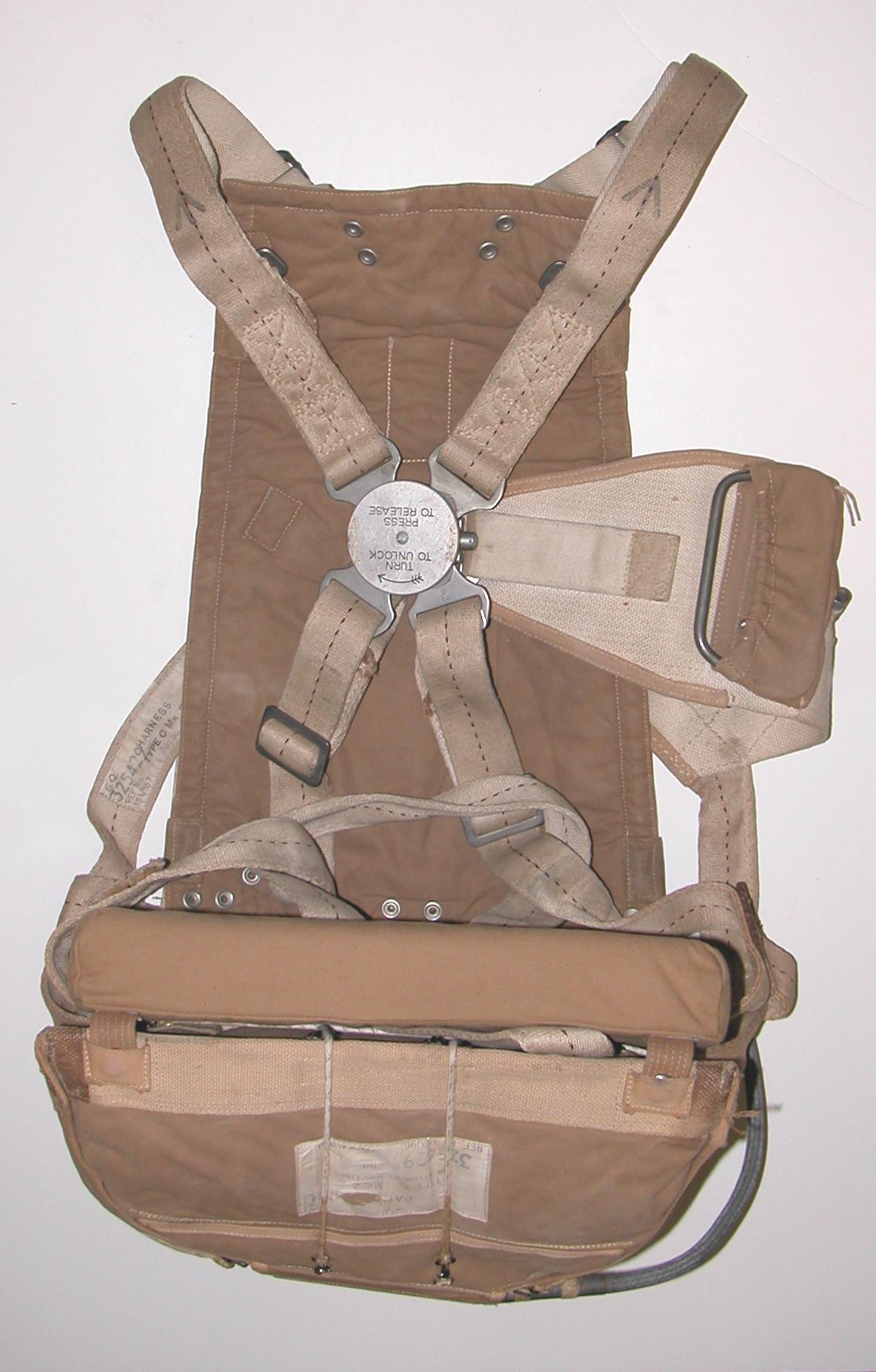 RAF seat type parachute