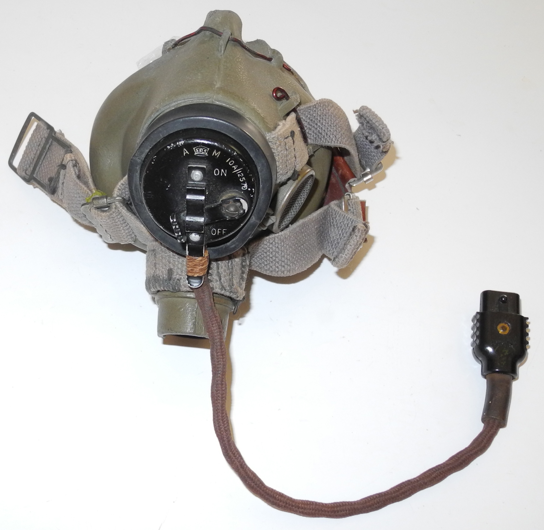 RAF Type G oxygen mask with Type 48 microphone