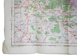 RAF Navigation Chart Toulouse 1942