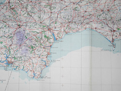 WWII RAF flight charts GB