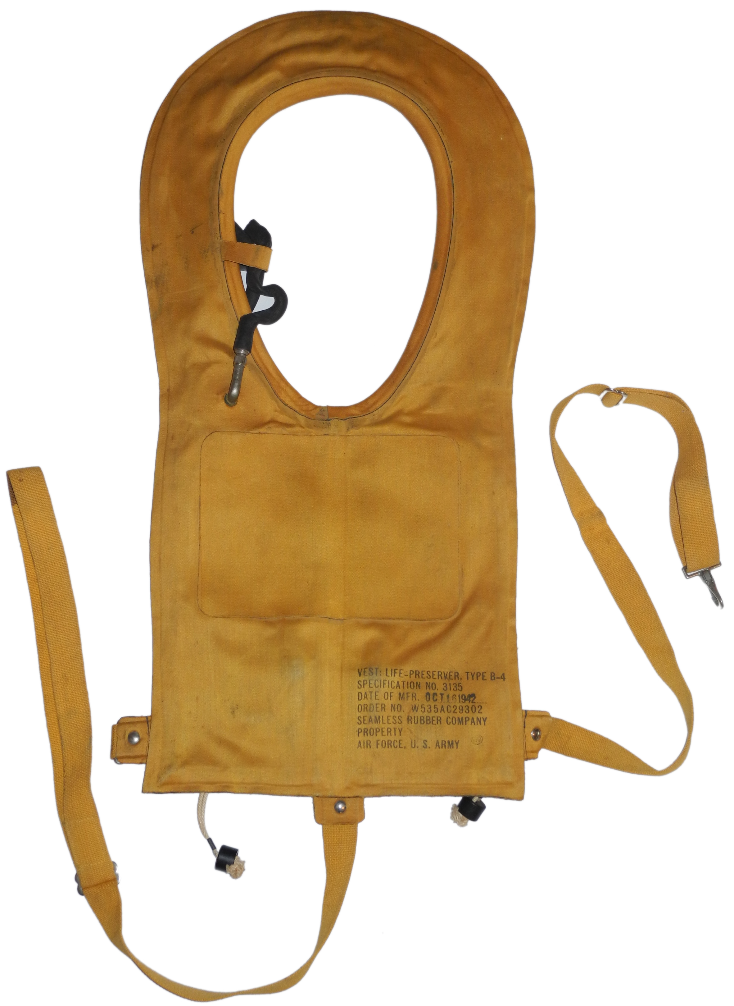 AAF B-4 life vest EARLY production
