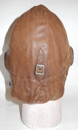 RAF 1930 Pattern Flying Helmet rigger modified for electronics