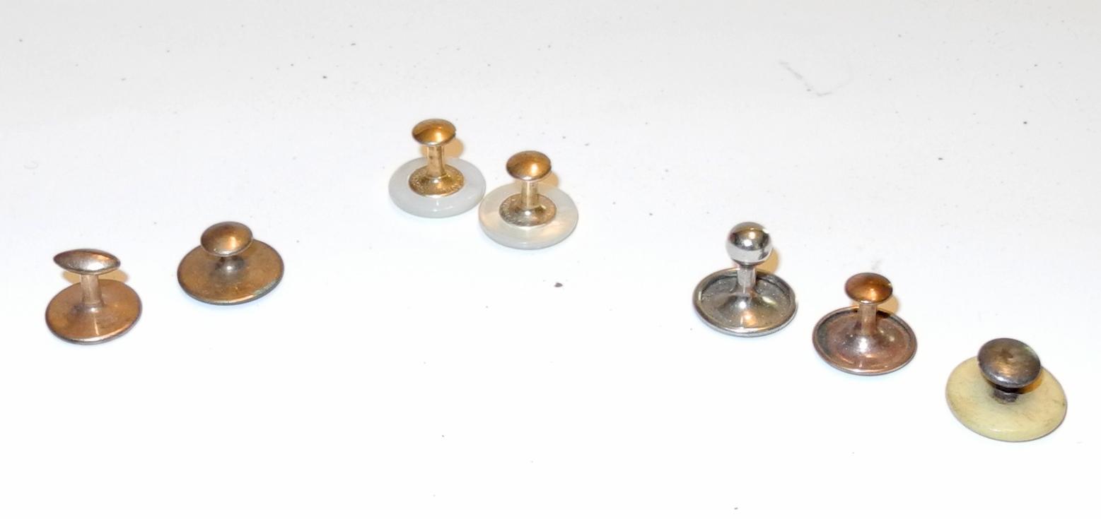 RAF period collar studs