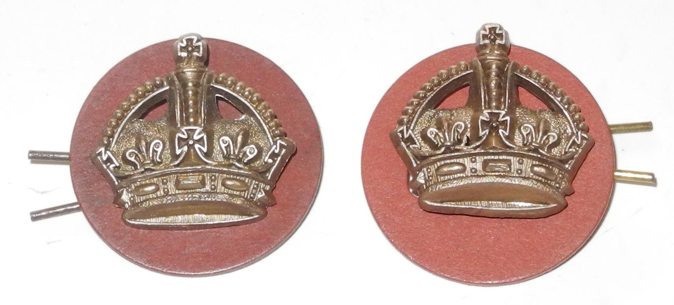 Wartime economy RAF flight sergeant's crowns