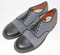 RCAF canvas and leather shoes by GP dated 1942