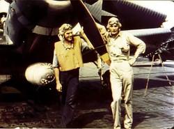 USN-Ens.GeorgGay (right)