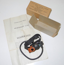 AAF T-30-S throat microphone, boxed with instructions in T-30-V box