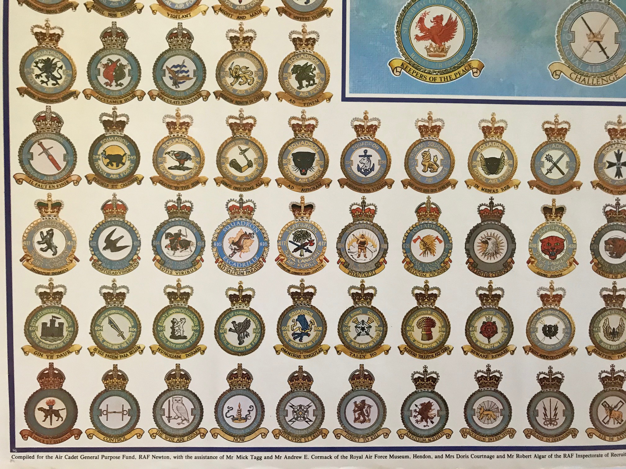 RAF squadron crests 2 x Posters