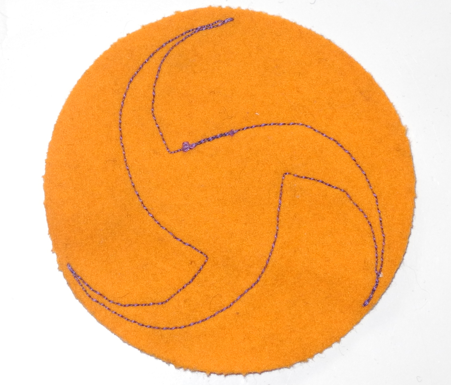 Early Army Air Corps pinwheel patch, 2 piece on felt