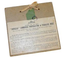 RAF navigator's Douglas Combined Protractor