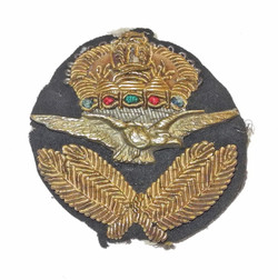 RAF officer's cap badge, 1920s, middle eastern made