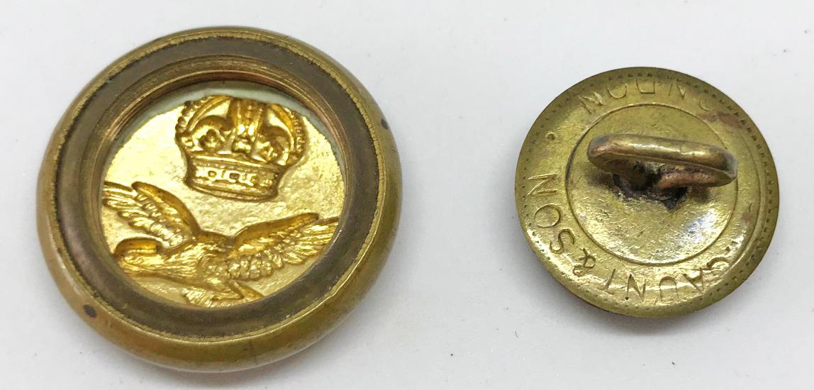 RAF uniform button escape compass
