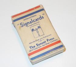 USN signal cards training deck