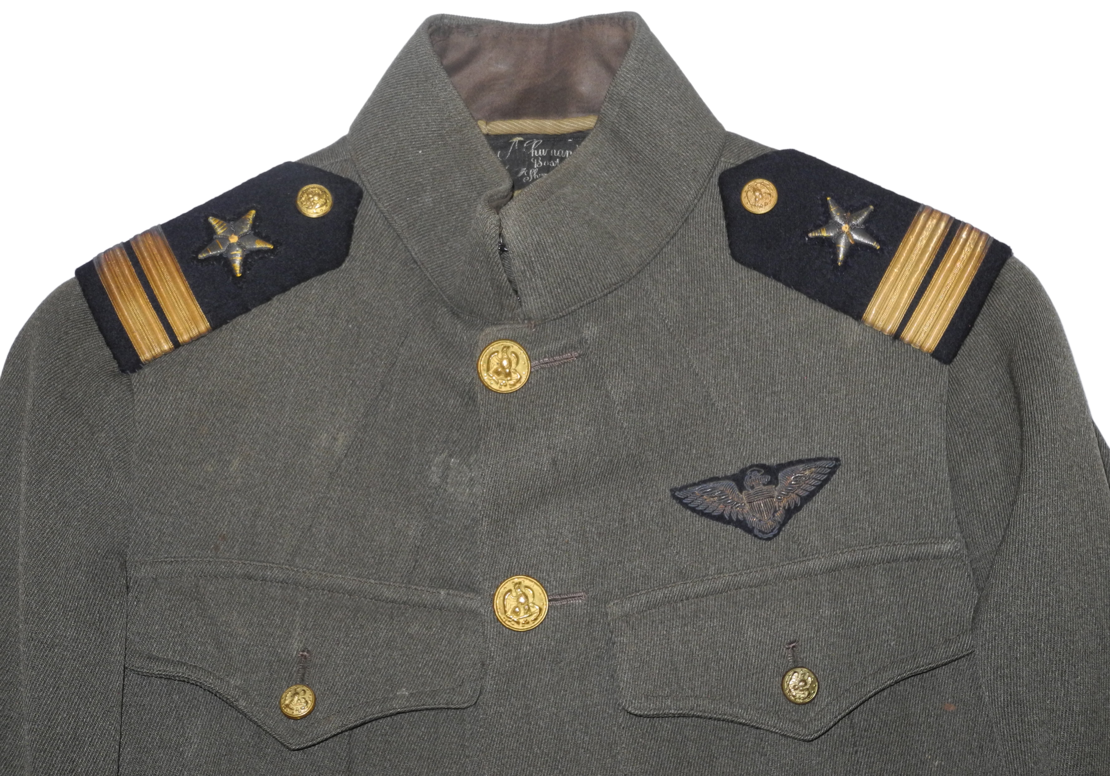 WWI USN aviator cap and tunic