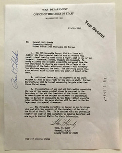 Paul Tibbets signed document