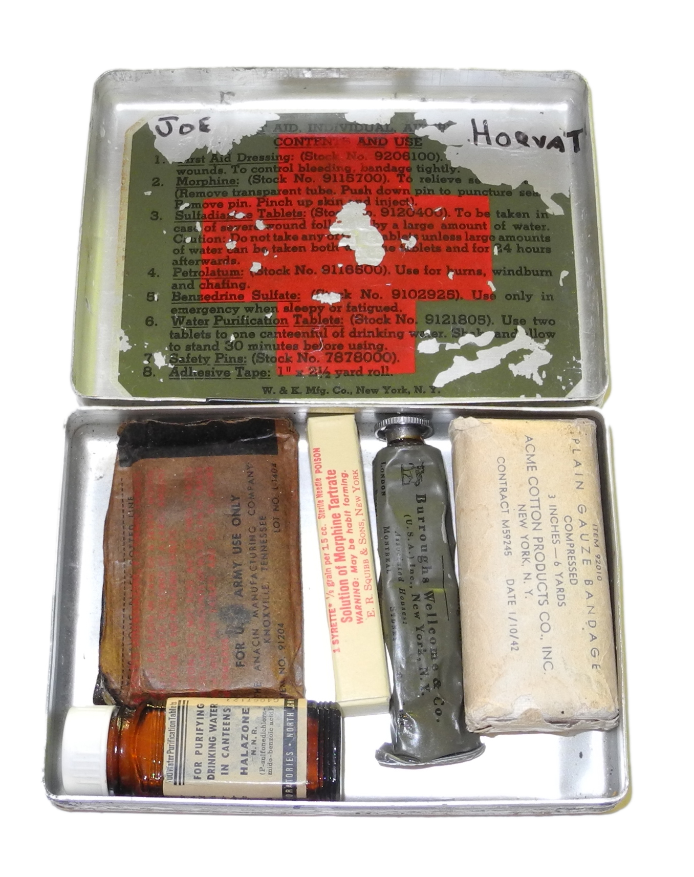 AAF metal aircraft first aid kit
