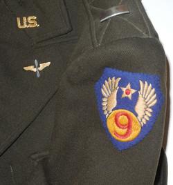 AAF English made Ike jacket 9th Air Force