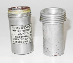 RAF Beadon Suit waterproof matches in container