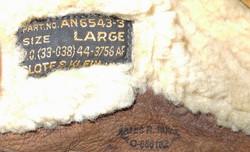 Named AAF AN6543 helmet, large