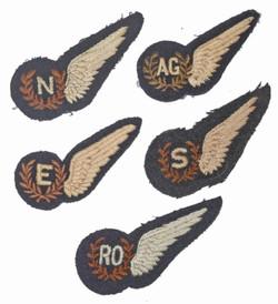 RAF aircrew brevets – unpadded (flat)