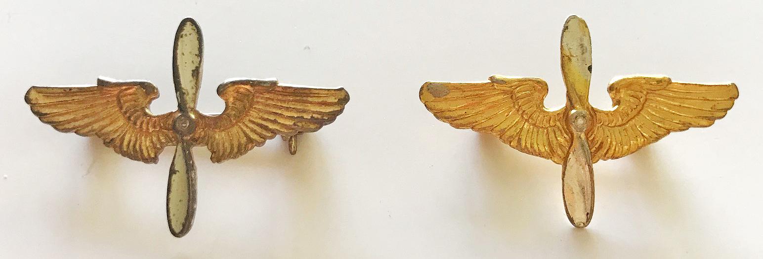 AAF winged props pinback
