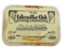 WWII RAF Caterpillar Club card