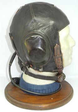 Luftwaffe LKpW101 flying helmet complete with rare fur lining