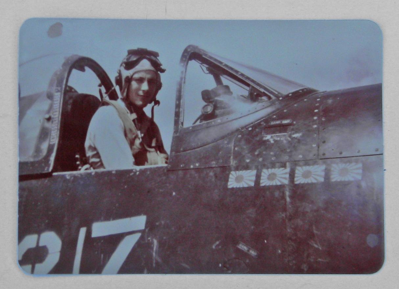 Terrill in cockpit - COLOR