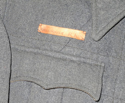 RAF Suits, Aircrew blouse ID'd with leather name tag