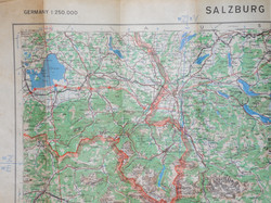 RAF flight chart map Salzburg