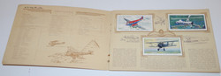 Wartime cigarette card album with full set of cards