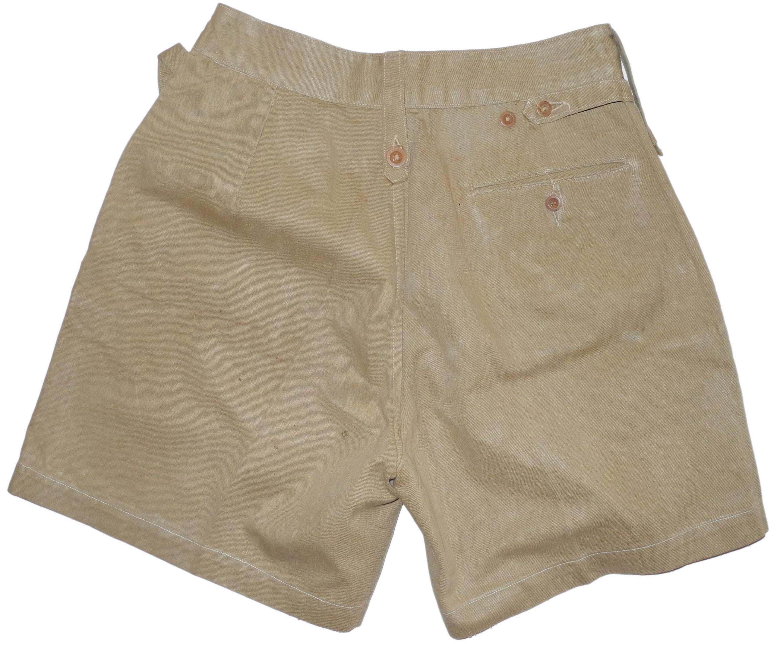 RAF khaki uniform shorts