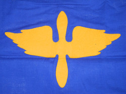 WWII AAF Swallow-Tail Guidon 80th Troop Carrier Squadron