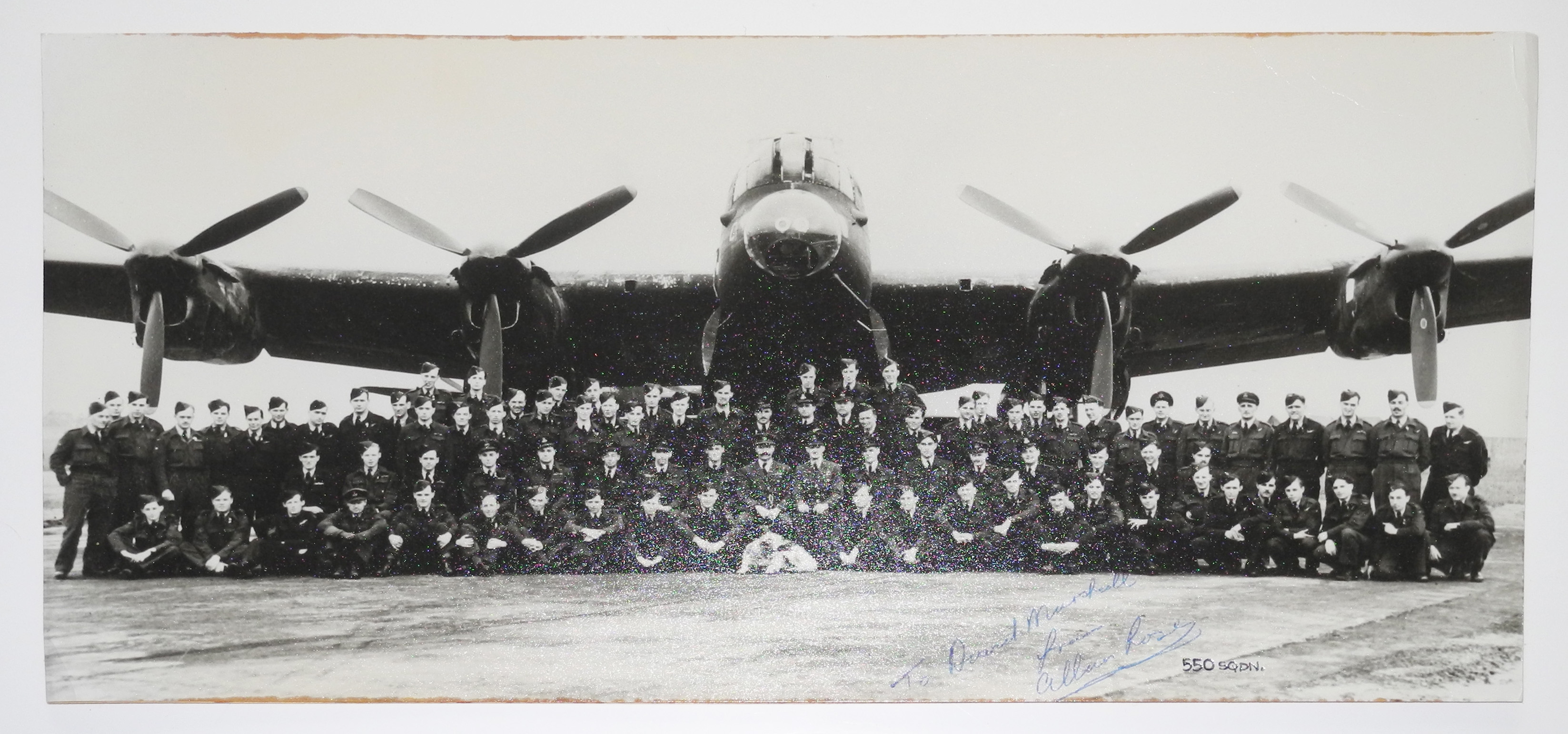 Signed photo 550 SQ. RAF