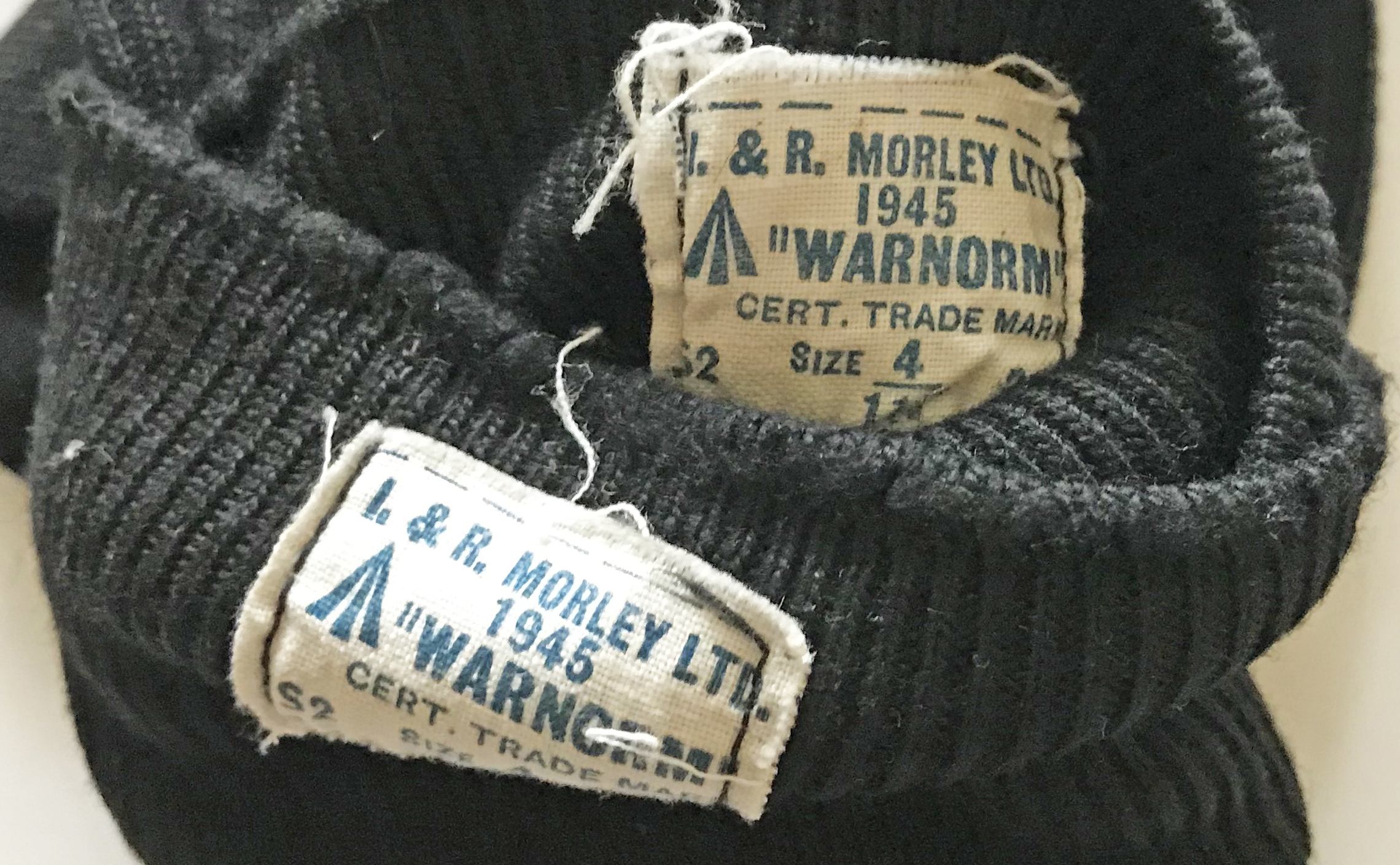 RAF uniform dress socks dated 1945