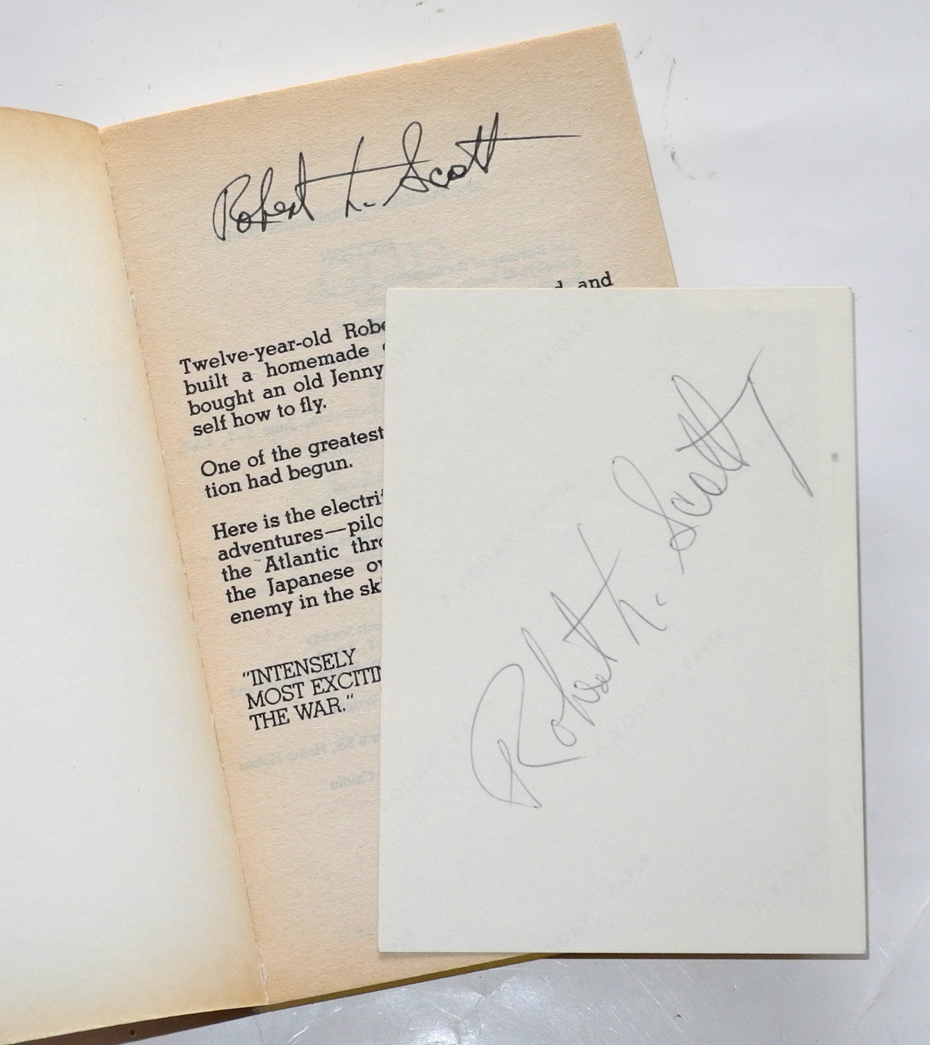 Robert Scott signed book