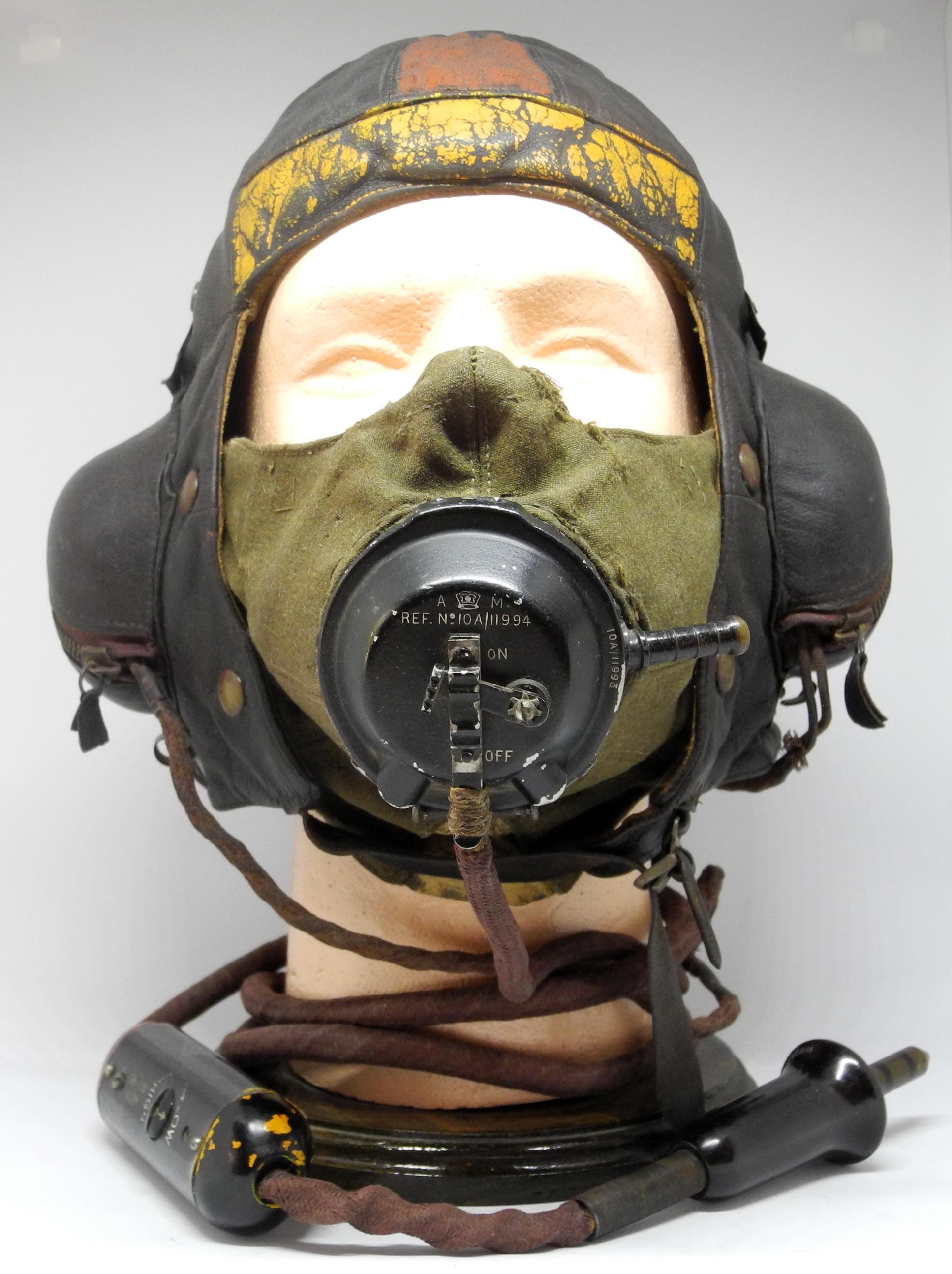 RAF B painted B helmet + D mask