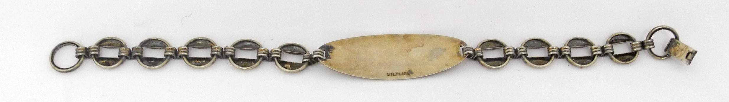 Sterling AAF ID bracelet