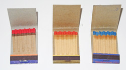 US Army match books unused, all matches present.