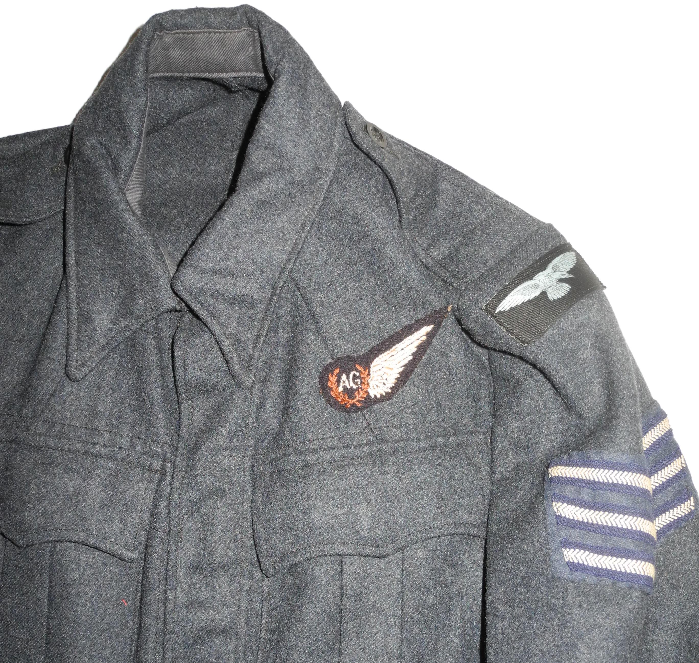 RAF war service dress sergeant Air Gunner