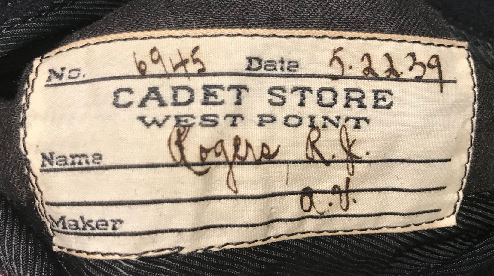 WWII West Point Cadet uniform
