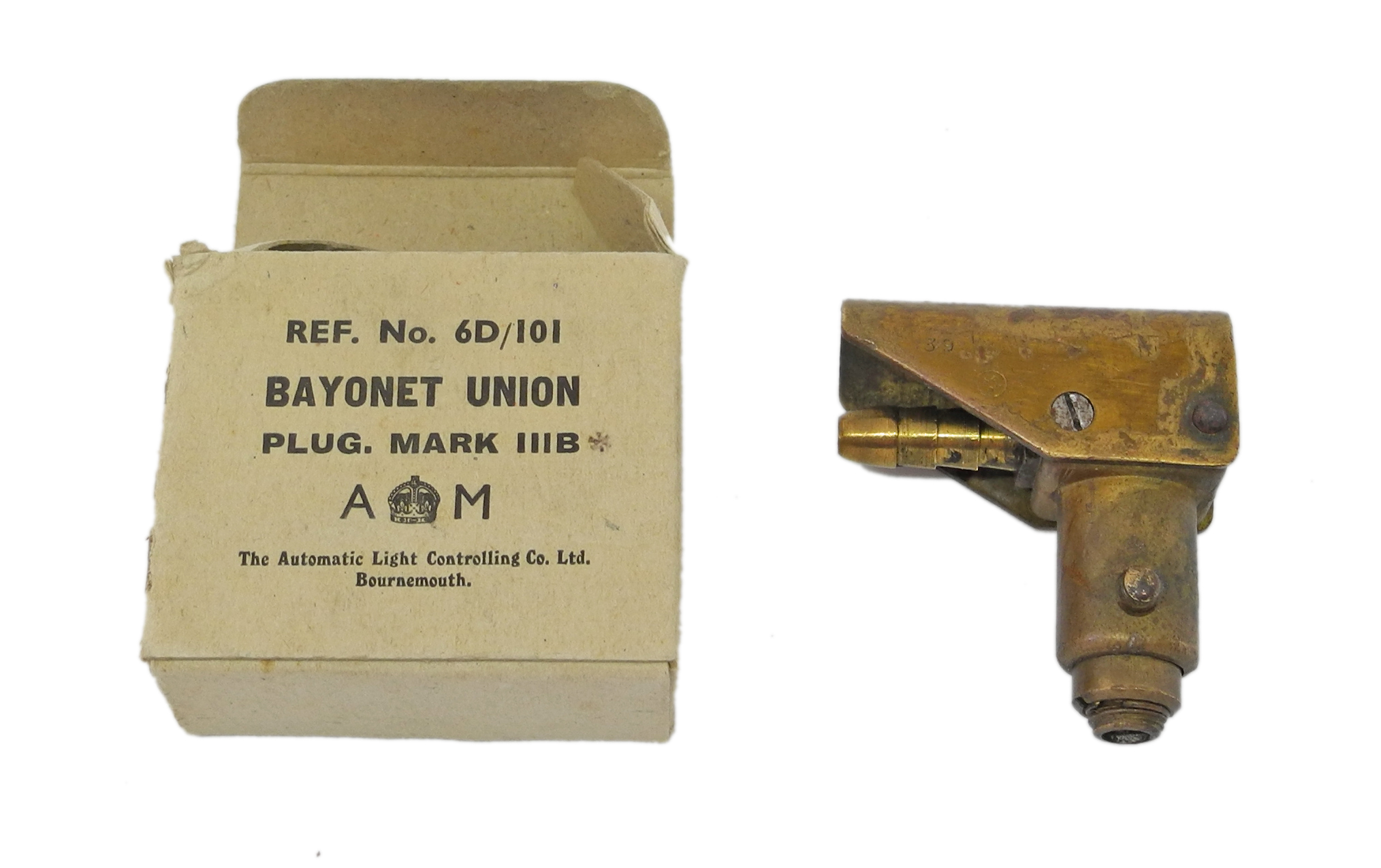 RAF D mask tube bayonet union