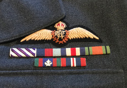 Superb RCAF Service dress tunic and cap named to a DFC winner