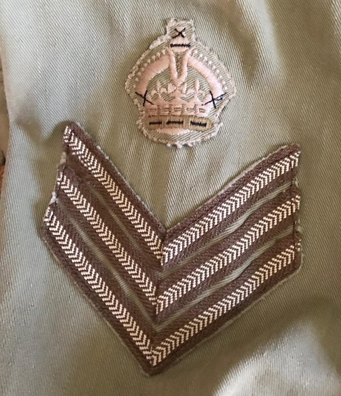 RCAF Khaki Dress jacket for Flight Sergeant