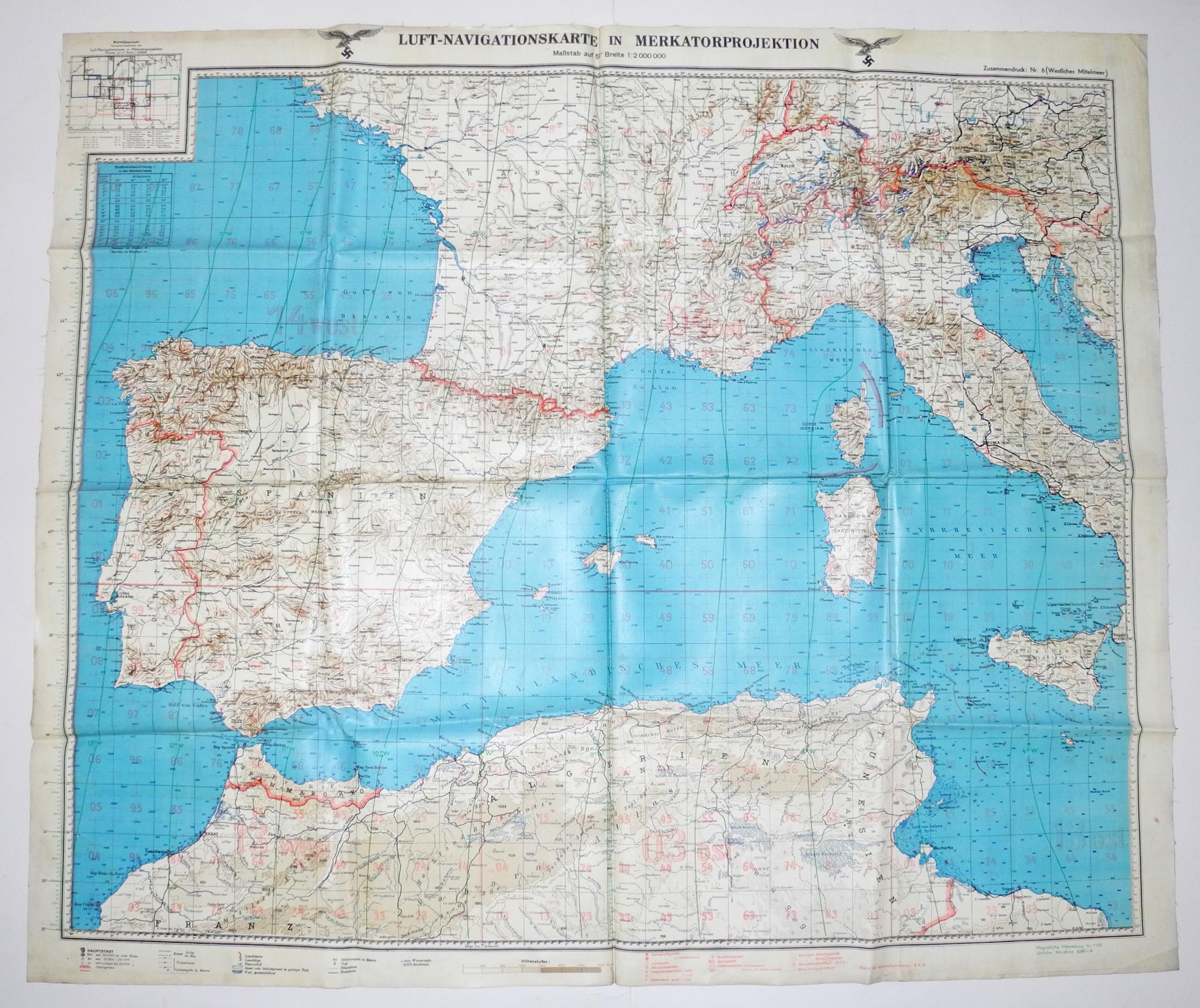 LW Flight Navigation Chart France