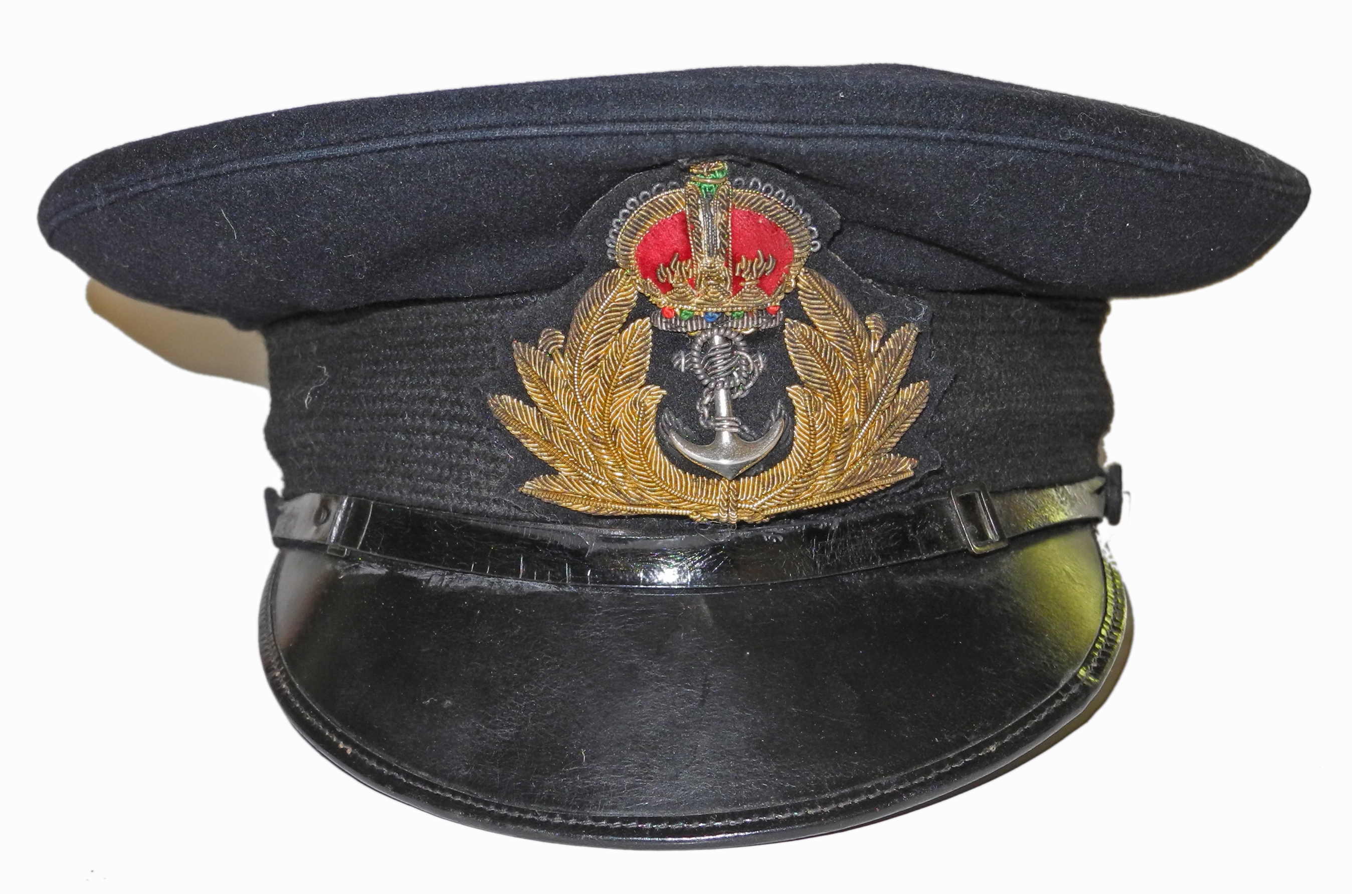 WWII Royal Navy officer's cap