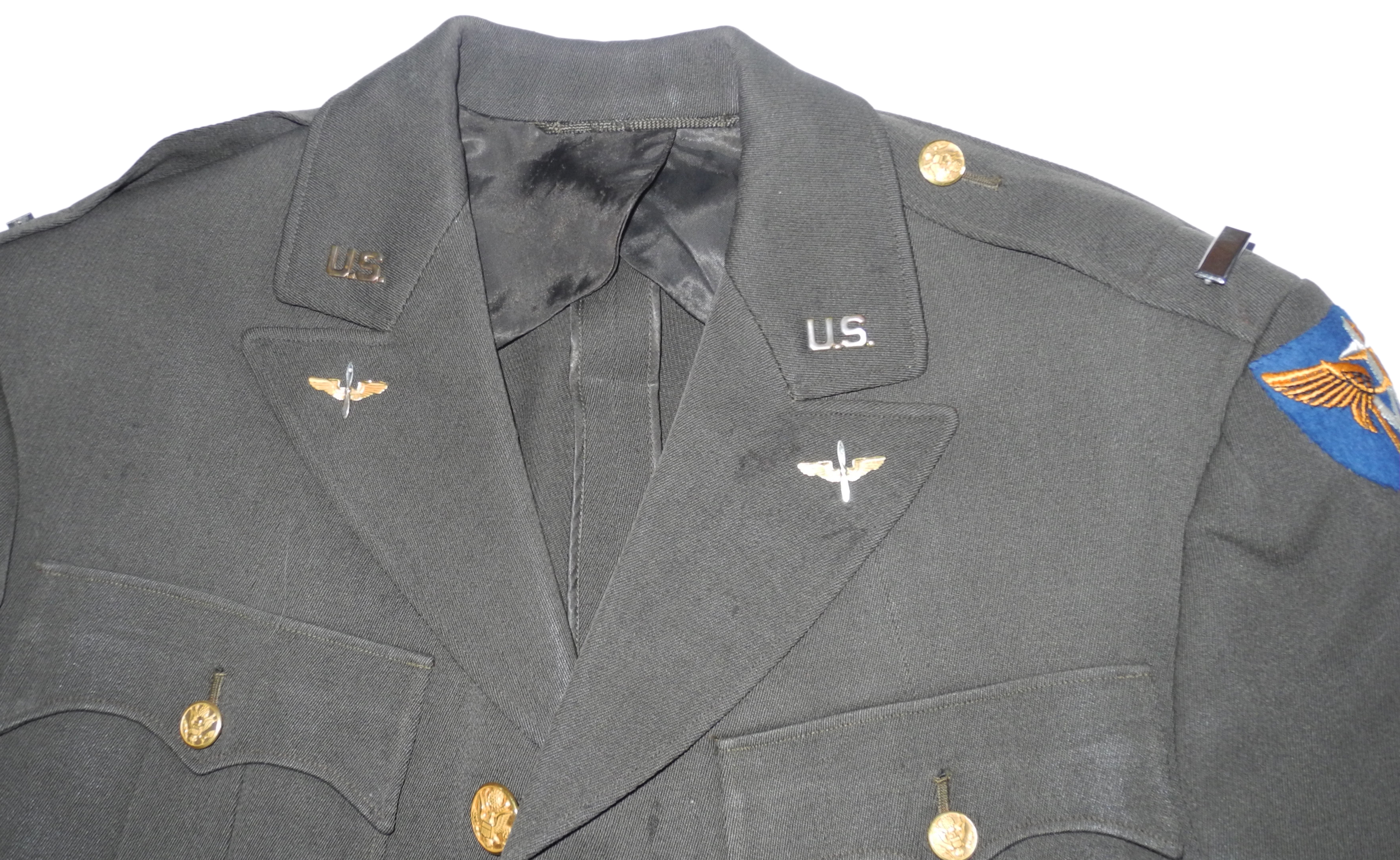 AAF Officer's tunic with superb XII Tactical Air Force Command patch
