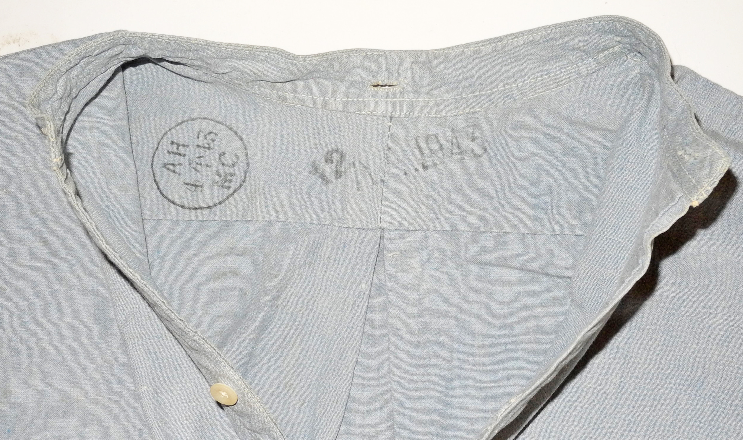 RAF officer's shirt with detached collar 1943 dated