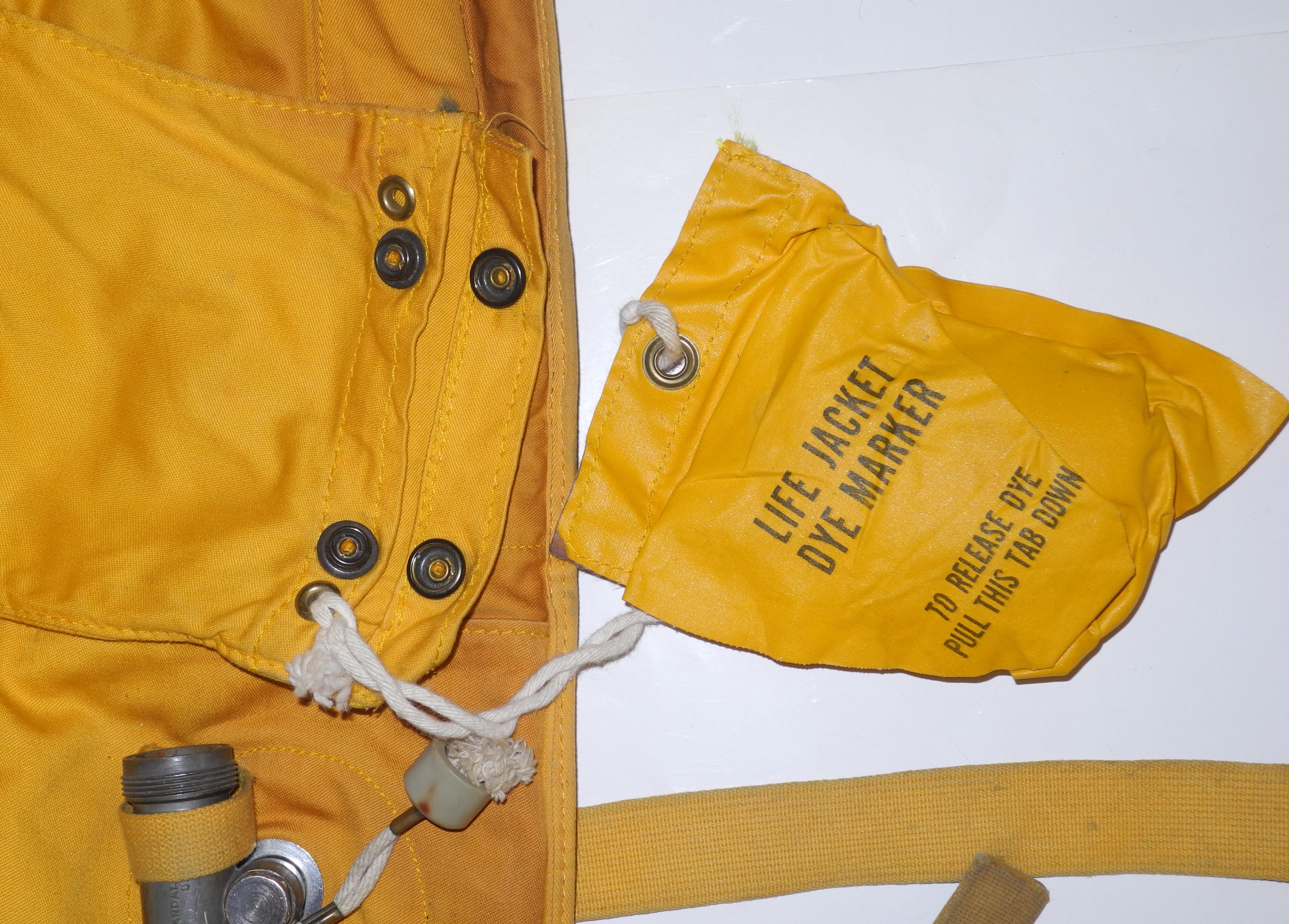 Korean War USAF B-5 life vest with dye marker