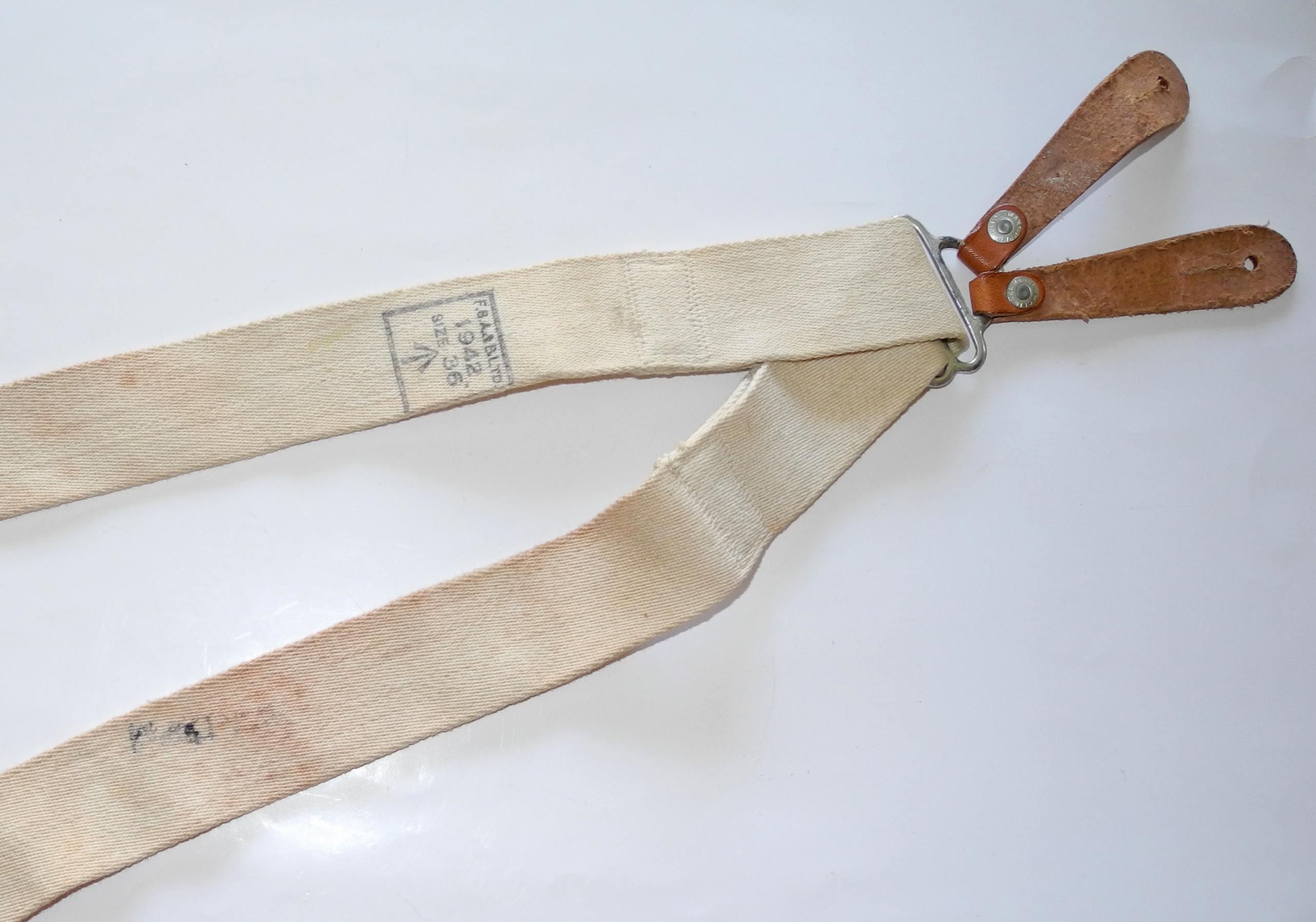 RAF uniform braces / suspenders